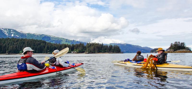 Kayaking in Kachemak Bay near Homer, Alaska