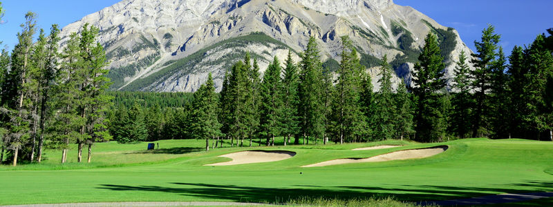 Golf Course with Mountains