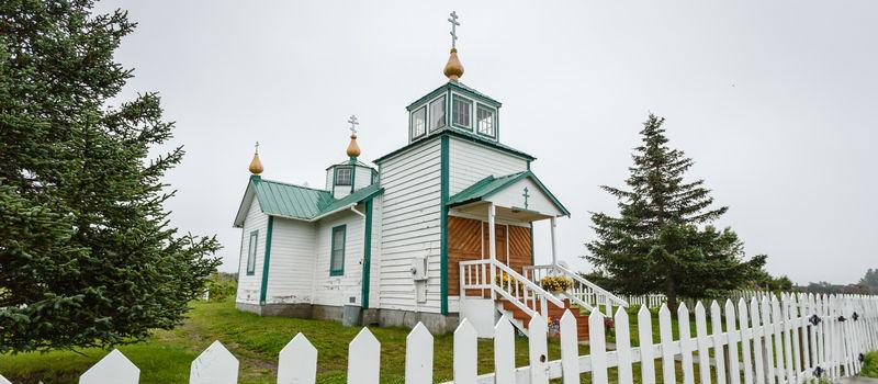 Russian Orthodox Church in Ninilchik, Alaska on the Kenai Peninsula